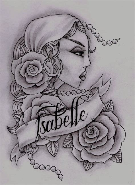 gypsy girl tattoo design tattoos designs ideas and meaning tattoos for you