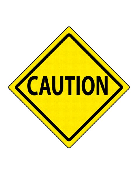 Caution Traffic Sign Template Education World Caution Sign Template