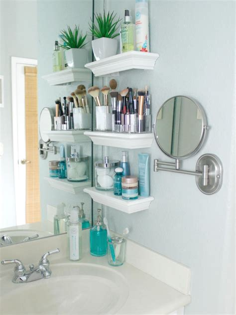 Shelves For Small Bathroom 12 Tiny Desks For Tiny Home Offices Hgtv S Decorating Design Hgtv