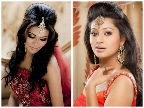 indian wedding hairstyle ideas  medium length hair