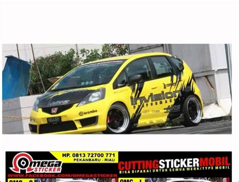 modifikasi cutting sticker honda jazz