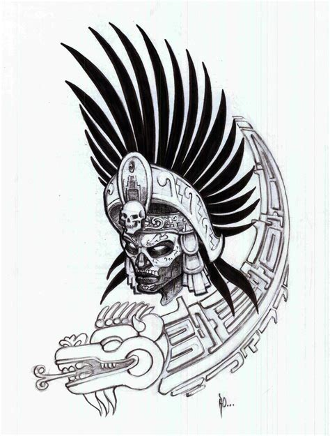 aztec warrior by ralfelor on deviantart