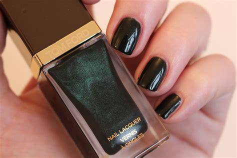 tom ford nail lacquer black jade swatch really ree