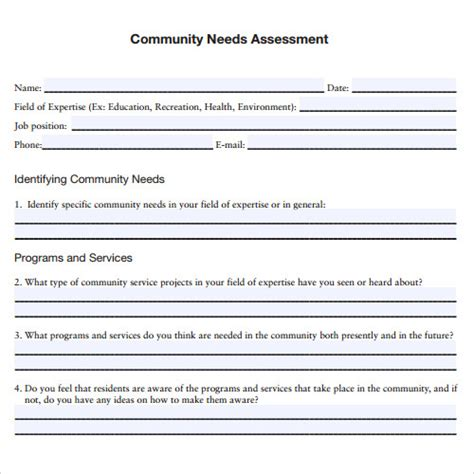 10 Sle Assessment Templates Sle Templates Needs Assessment Template