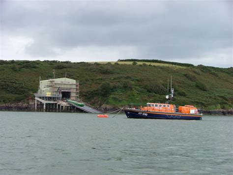 slipway and boat r lifeboat and slipway