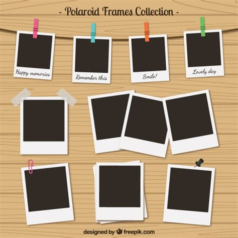 cornici virtuali per foto polaroid frames collection in retro style vector premium