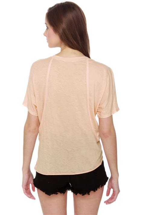 Light Pink Top by Light Pink Top Sheer Top Sleeve Top 24 00