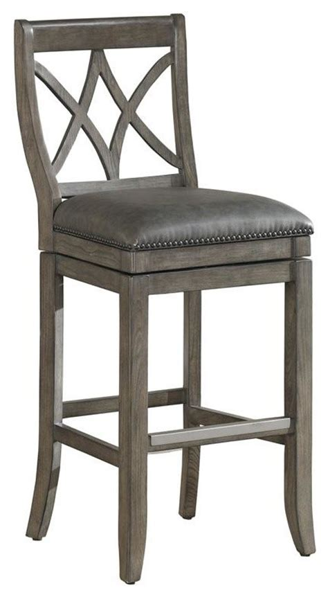 Driftwood Color Bar Stools by Need This Swivel In Driftwood Finish And Taupe Seat