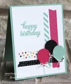 one of many birthday card ideas using washi