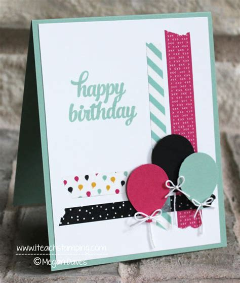 Birthday Card Ideas One Of Many Birthday Card Ideas Using Washi Tape
