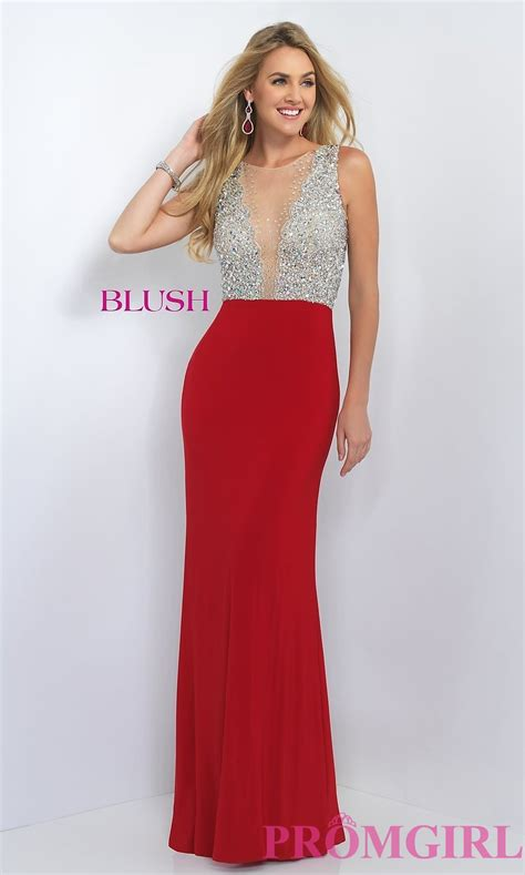 Top 8 Must Dresses by Sheer Beaded Illusion Top Prom Dress Promgirl