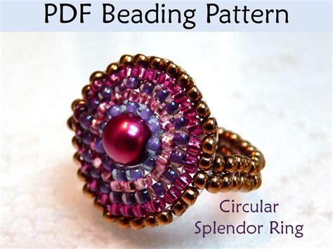 beading brick stitch tutorial beading tutorial pattern beaded ring circular brick