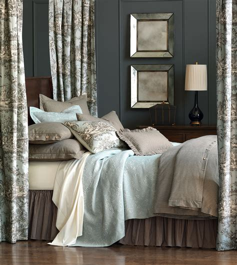 ticking bedding luxury bedding by eastern accents heirloom cotton