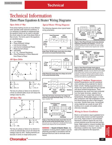 chromalox heater wiring diagram k