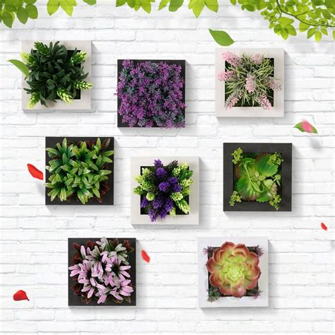 Bunga Artificial Dinding Teralis Tralis Artificial Flower Wall Aa3 3d potted plants wall hanging emulational home bar