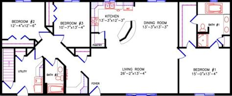 no garage 1 338 sq ft and 26 wide apartment house plan ranch