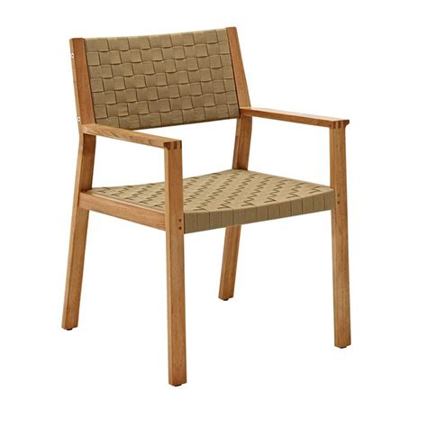 gloster maze dining chair with arms