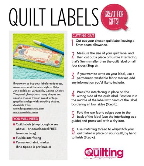 free printable quilt tags free quilt labels printable quilting pinterest