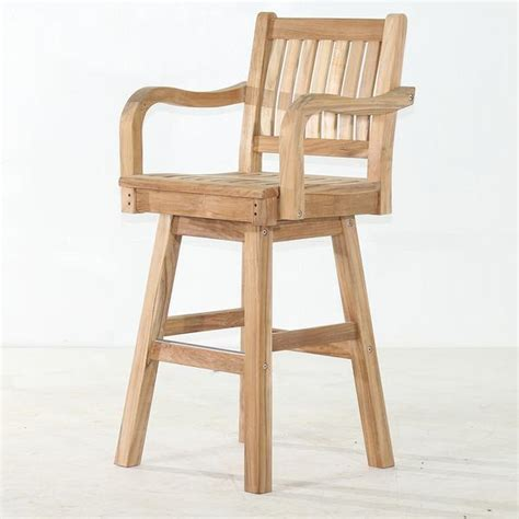 swivel bar chair teak swivel bar chair