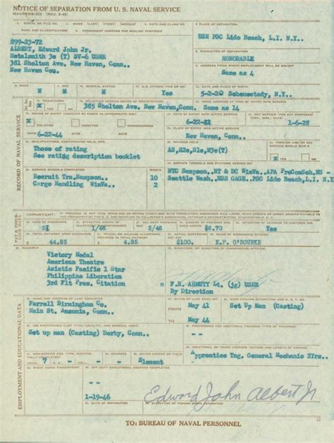 Wwii Records Wwii Era Navy Service Records An Overview My Service Records