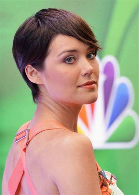 Megan Boone Backward Flow Haircut | megan boone short hairstyles 2014 stylish short straight