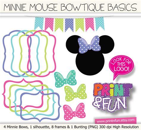 Minnie Mouse Bowtique Clipart basics bowtique minnie mouse frames and free clip