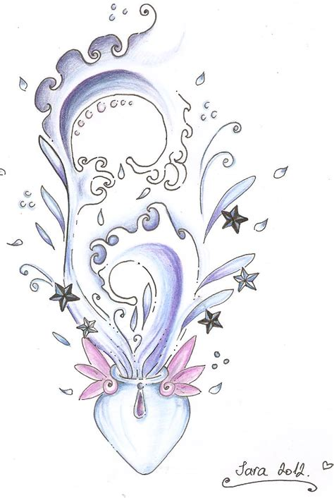 aquarius tattoos for females aquarius design by aquaganymedes on deviantart