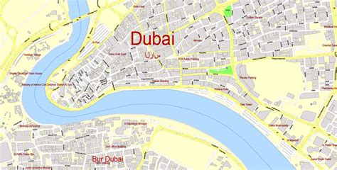dubai uae map map dubai editable pdf printable exact city plan 100