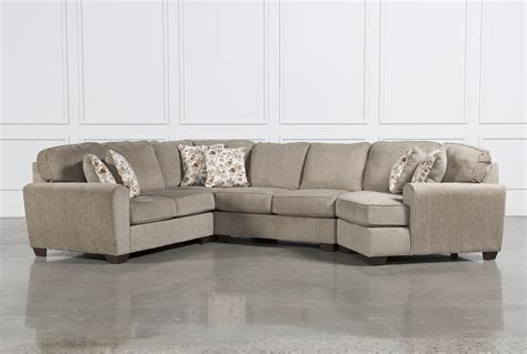 sectional couch with cuddler patola park 4 piece sectional w raf cuddler living spaces