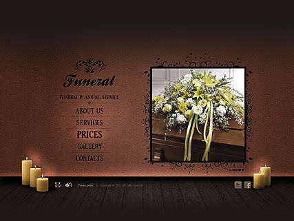 Funeral Service Flash Website Template Best Website Templates Funeral Presentation Template