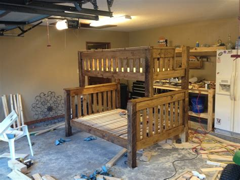 twin  full bunk bed plans diy  plans