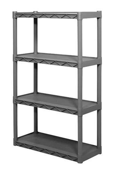 plano 174 4 shelf resin storage unit 34 1 4 quot w x 56 1 4 quot h x 14