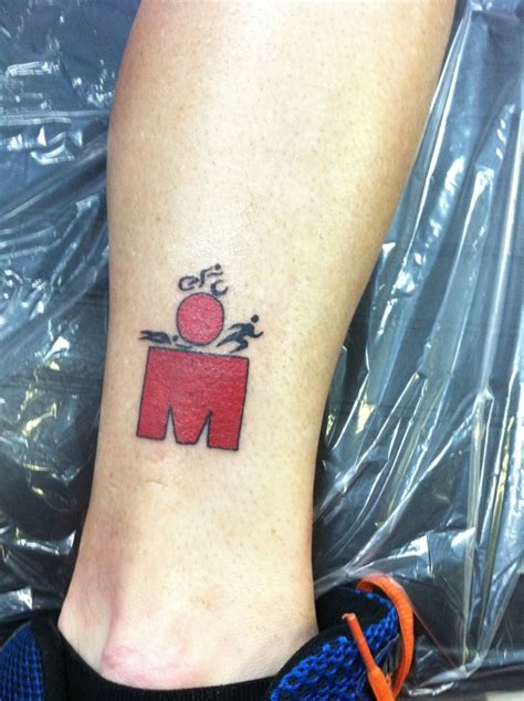 ironman triathlon tattoo kenny s ironman triathlon he did the race