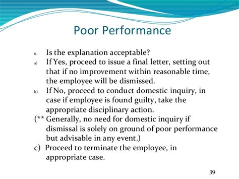 Explanation Letter Poor Sales Performance Employee Termination Laws In Malaysia
