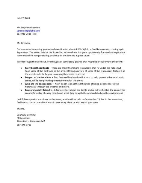 sle pitch for resume pitch letter sle