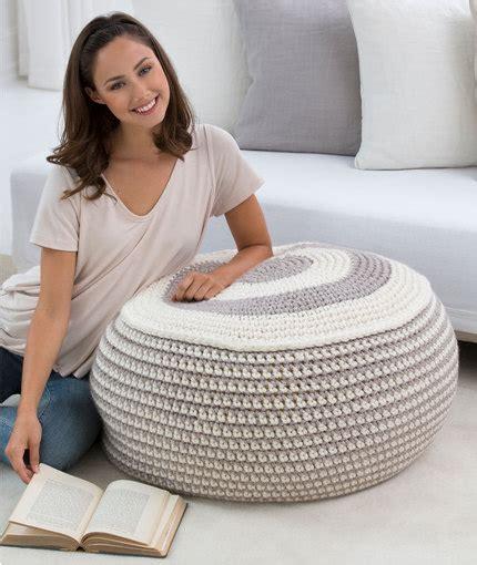 free crochet bean bag chair pattern stylish pouf