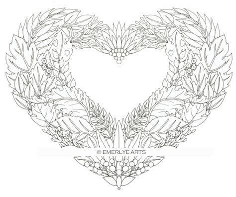 coloring pages for adults heart cynthia emerlye vermont artist and life coach leaf heart
