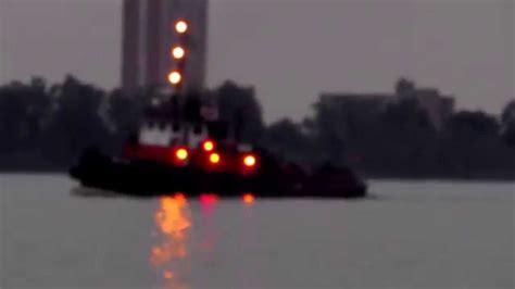 tug boat lights marina lights and a tugboat youtube