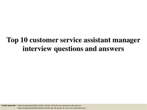 top 10 customer service assistant manager