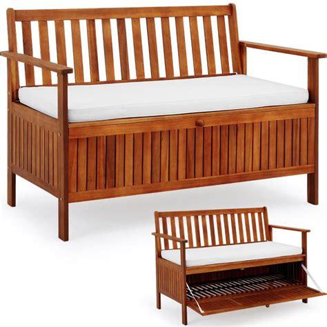 banc de jardin en bois ikea banc de jardin en acacia huil 233 avec coffre de rangement