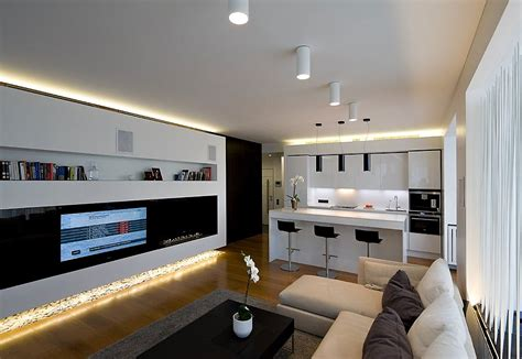 living room modern apartment interior lighting luxury apartment by sl project in moscow russia 11