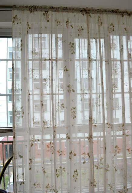 small sheer curtains morden rustic elegant small flower curtains for windows