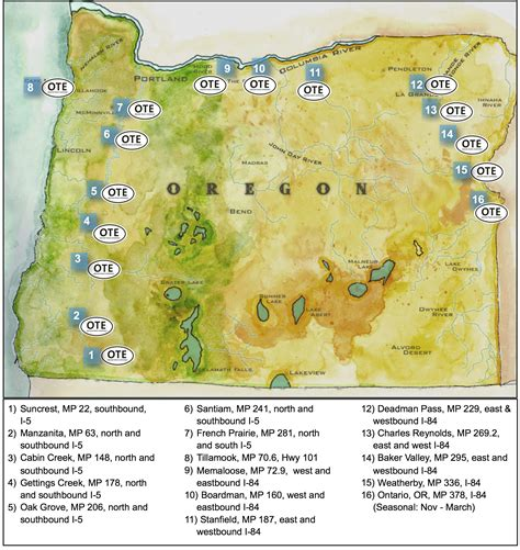 map of oregon rest stops free coffee program oregon travel experience
