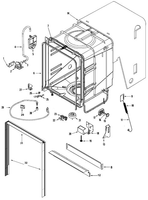 maytag dishwasher parts diagram tub diagram parts list for model mdbh955aww maytag parts