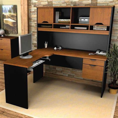 dark brown computer desk black l shape desk for home office