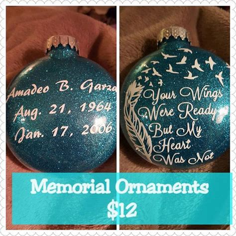 diy memorial ornaments memorial ornaments by stickinandgrinnin on etsy crafty
