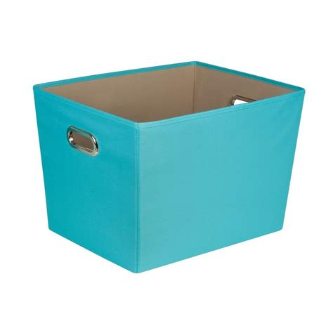 organization bins honey can do 58 qt large decorative storage bin with