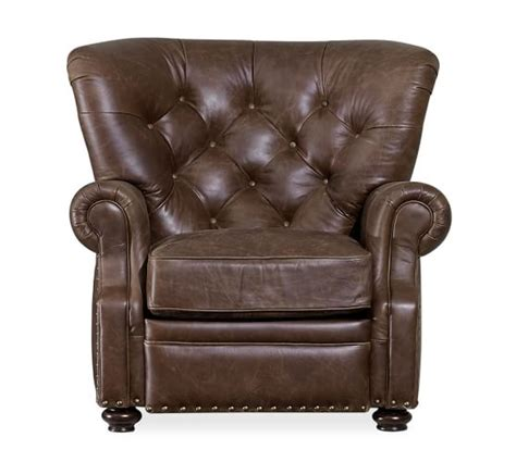 pottery barn leather recliner lansing leather recliner pottery barn
