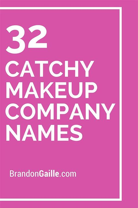 makeup themes names makeup ideas 187 catchy names for makeup business