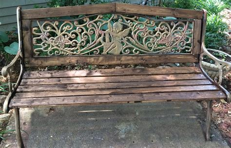 restore cast iron bench how to rebuild and restore a cast iron garden bench and